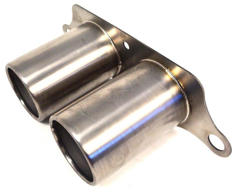 Titanium Exhaust Brushed Tips Porsche 991 GT3 GT3RS Agency Power