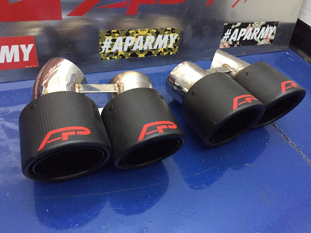 Quad GT2 Angle Style Exhaust Tips Porsche 991 Turbo Agency Power