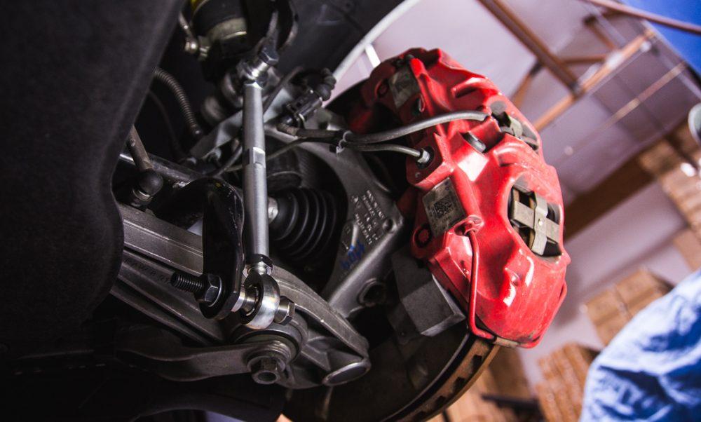 Front Adjustable Sway Bar Links Porsche 991 Turbo   Turbo S Agency Power