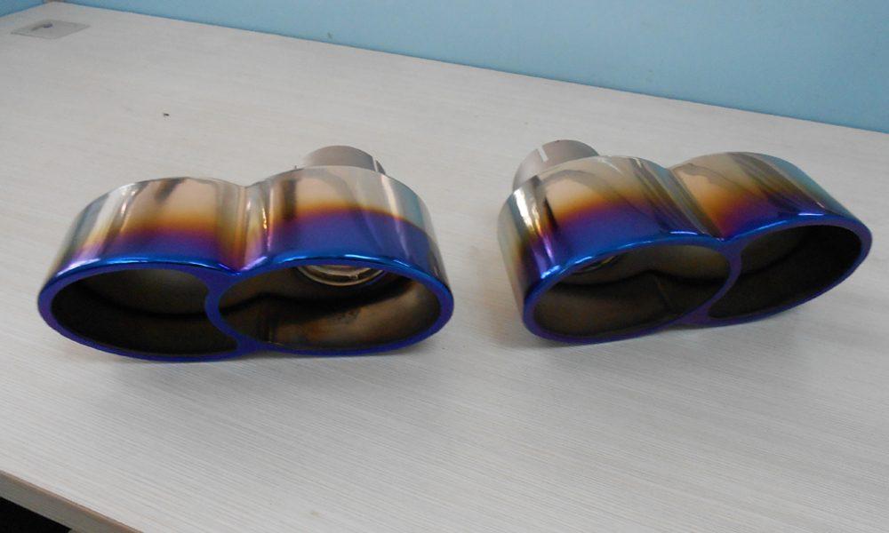 Quad Oval Exhaust Tips Burnt Titanium 07-09 Porsche 997 Turbo Agency Power