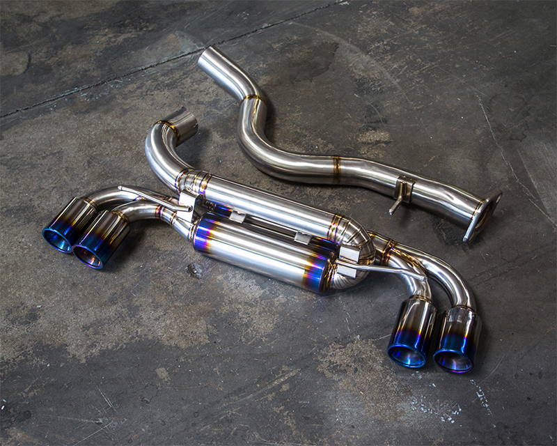 Titanium Muffler Quad Tip Exhaust BMW 1M E82 N54 Agency Power