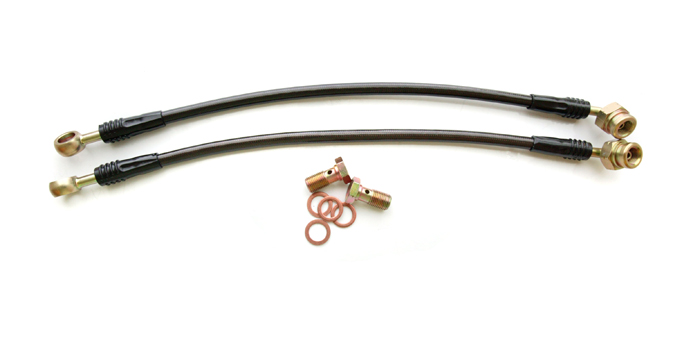 Rear Steel Braided Brake Lines 03-05 Mitsubishi EVO VIII Agency Power
