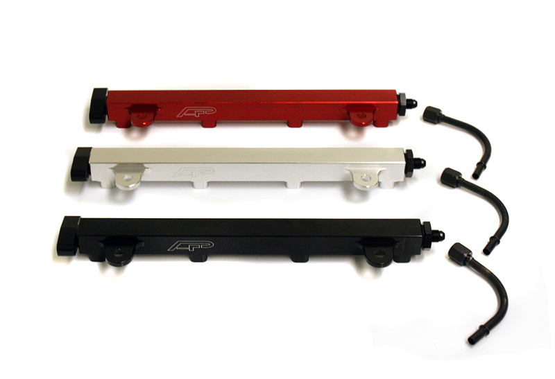 High Flow Fuel Rail Red 08-15 Mitsubishi EVO X Agency Power