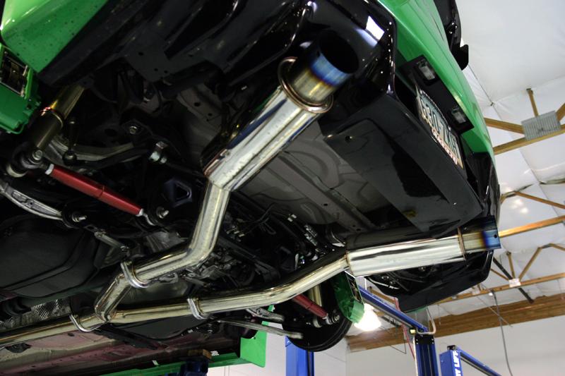 Titanium Tip Dual Catback Exhaust 08-15 Mitsubishi EVO X Agency Power
