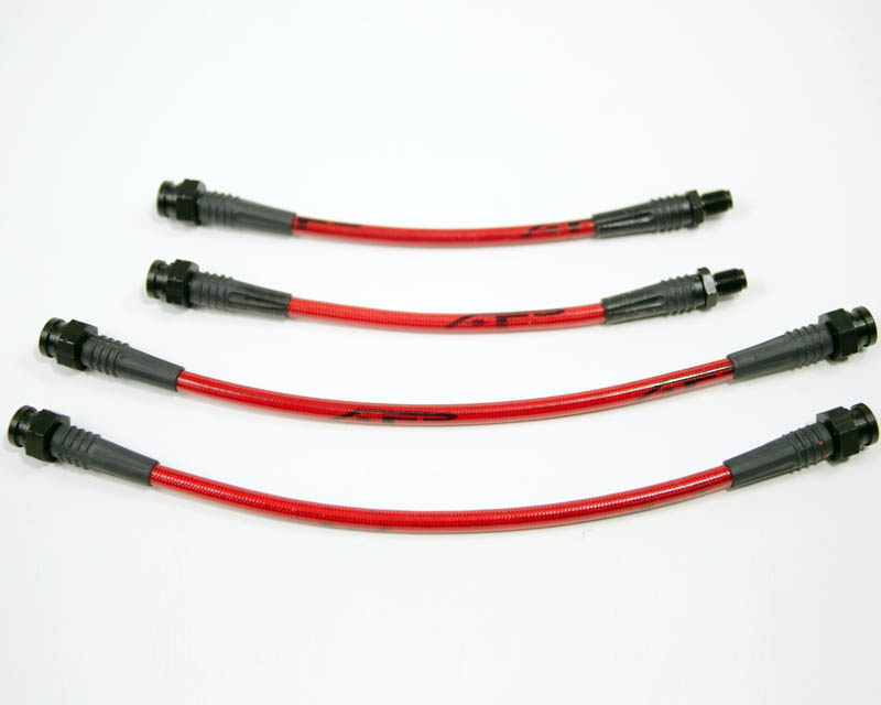 Front Steel Braided 4pc Brake Line Kit 90-94 Mitsubishi Eclipse Agency Power