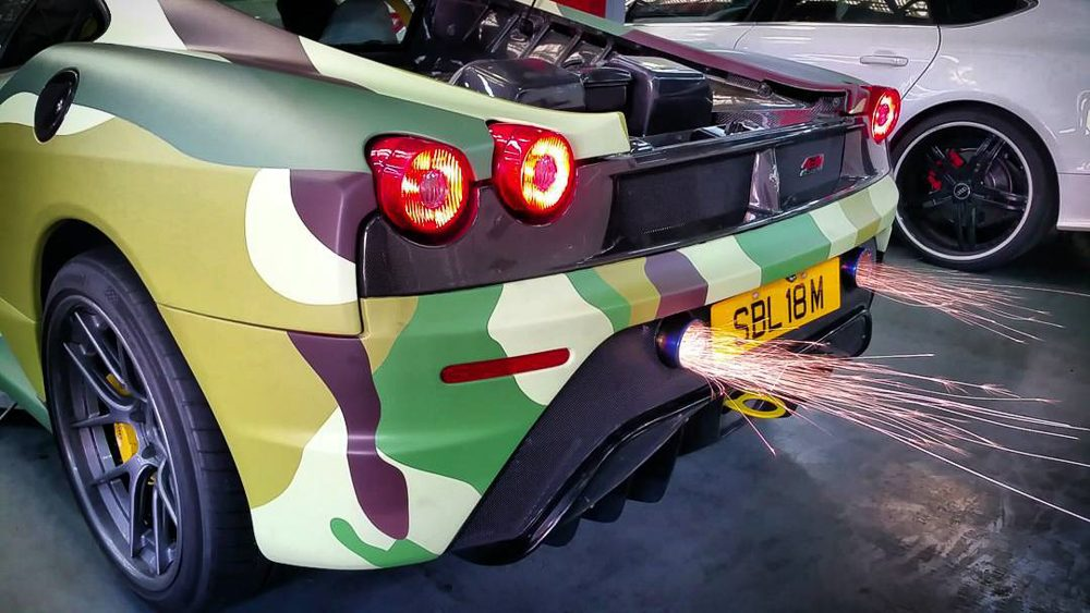 Titanium Exhaust System Ferrari F430 Scuderia Agency Power