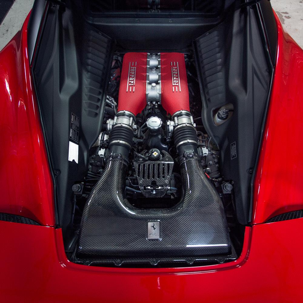 Carbon Fiber Engine Lock Cover 10-15 Ferrari 458 Agency Power