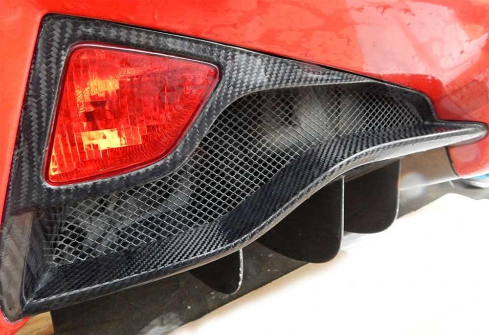 Agency Power Carbon Fiber Rear Tail Light Surround Ferrari 458