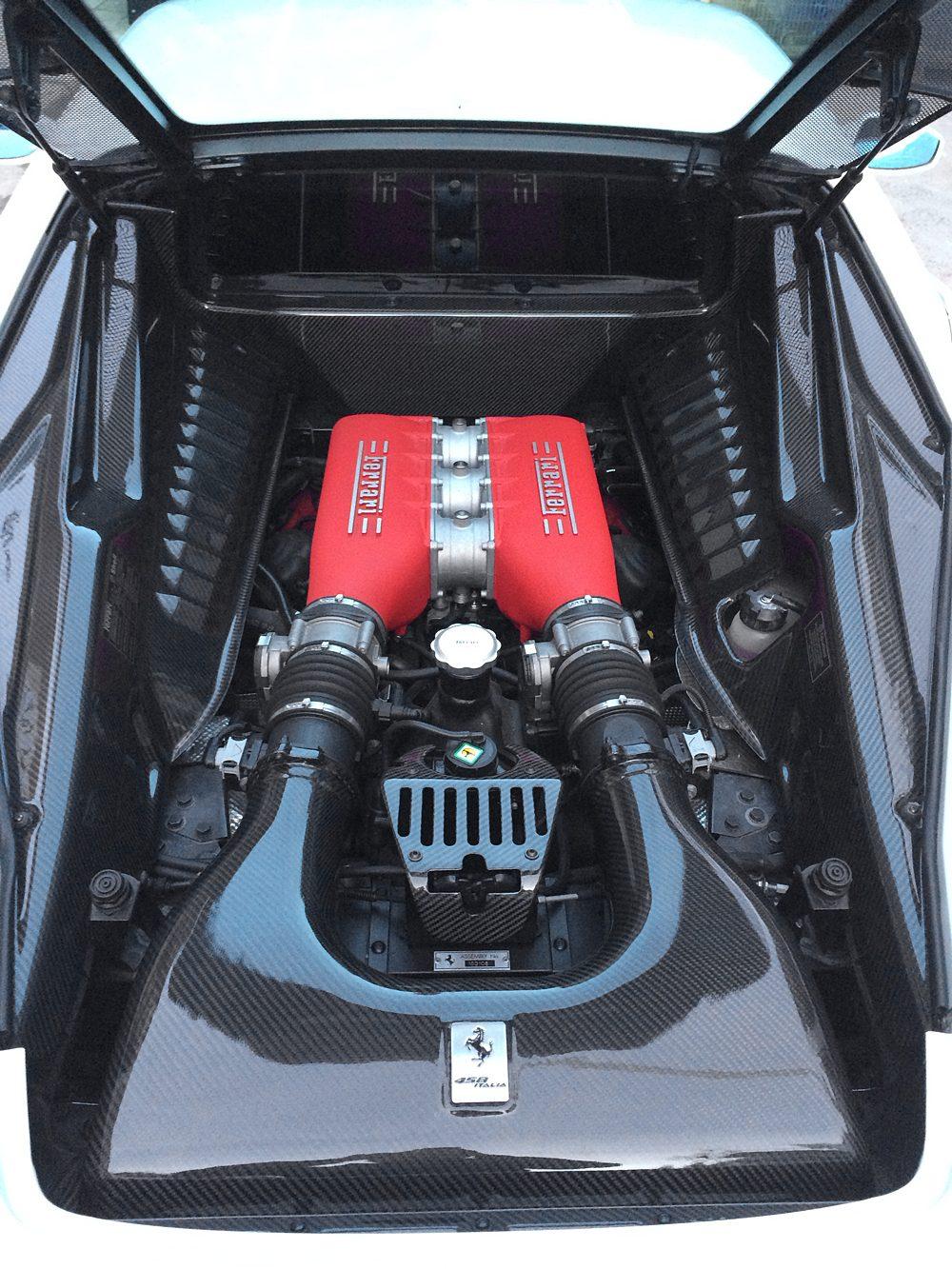 Carbon Fiber Under Screen Panel 10-15 Ferrari 458 Agency Power