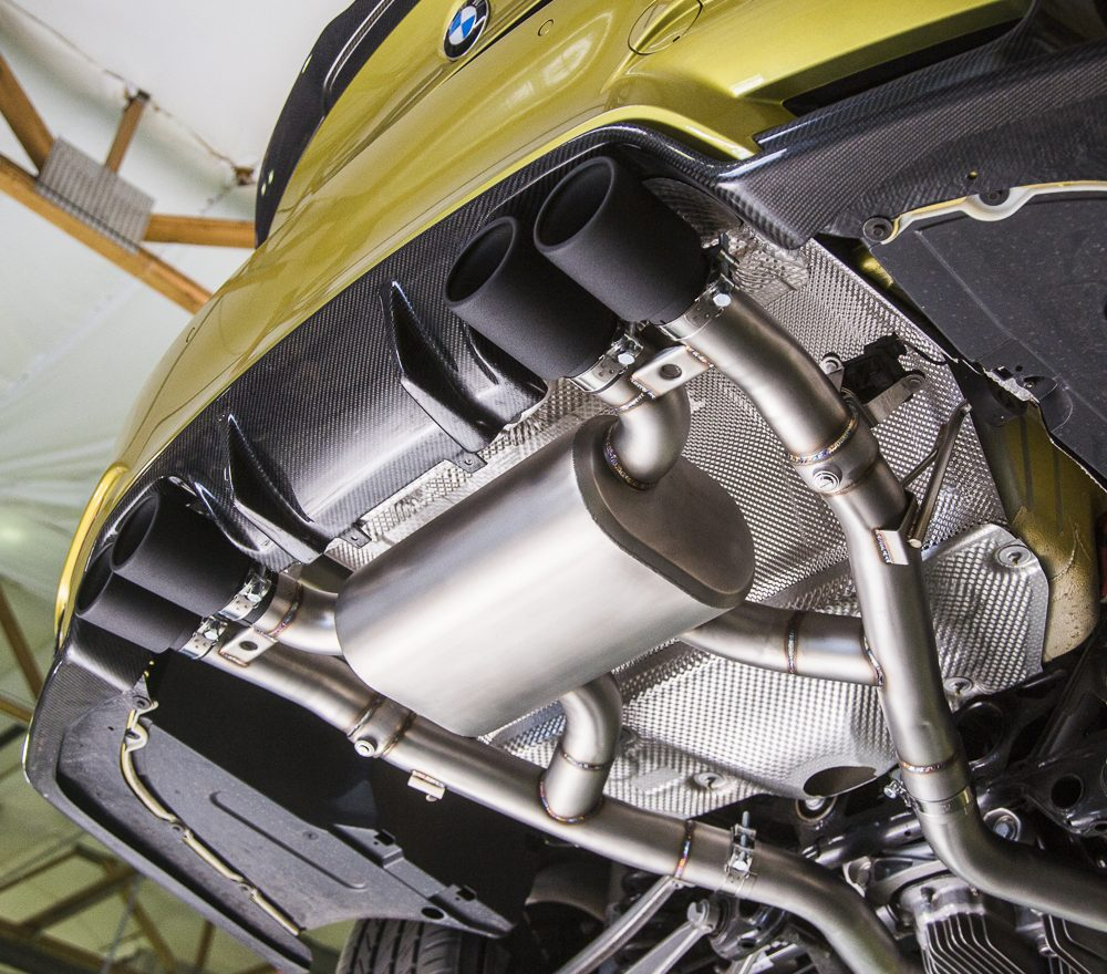 Catback Exhaust System Black Tips BMW M3|M4 Agency Power