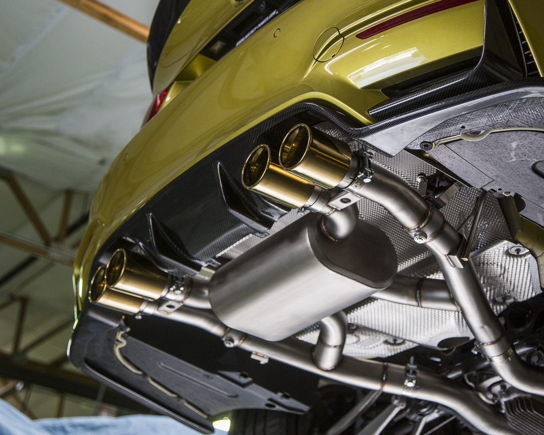 Catback Exhaust System Gold Tips BMW M3|M4 Agency Power