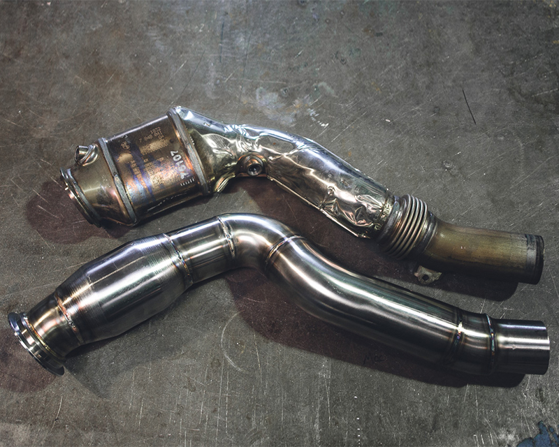 High Flow Catted Stainless Steel Down Pipes BMW M3 F80 | M4 F82 | F83 Agency Power