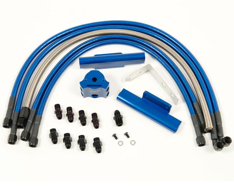 Fuel Rail Kit Blue Subaru WRX 02-11   STI 02-07 Agency Power