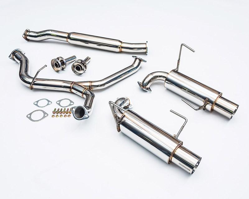 Catback Exhaust System Dual 4in Tips 08-12 Subaru WRX Sedan Agency Power