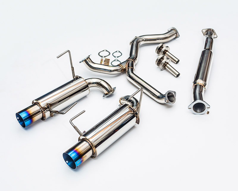 Titanium Tip Catback Dual Exhaust System 08-12 Subaru WRX Sedan Agency Power