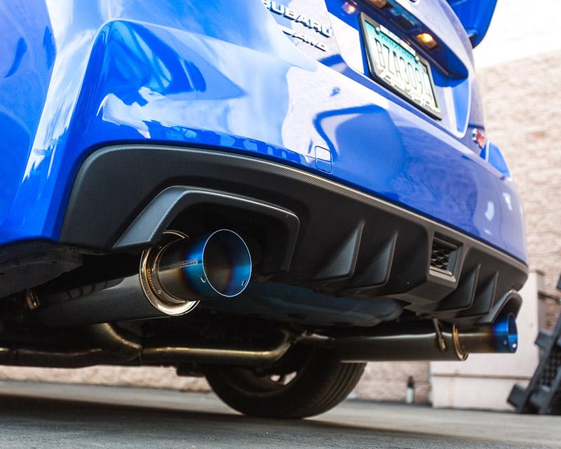 Titanium Tip Catback Dual Exhaust System 08-12 Subaru WRX Sedan Agency Power