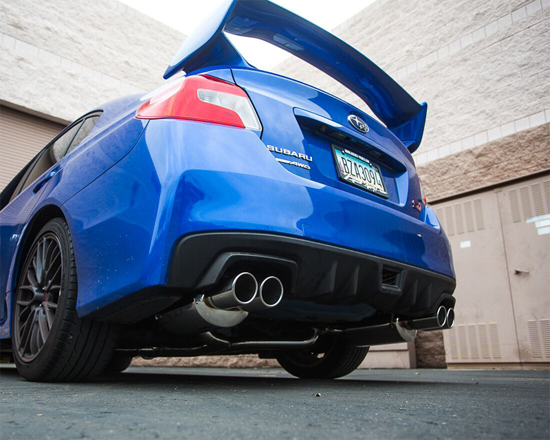 Catback Exhaust System Polished Quad Tips Subaru WRX STI Sedan Agency Power