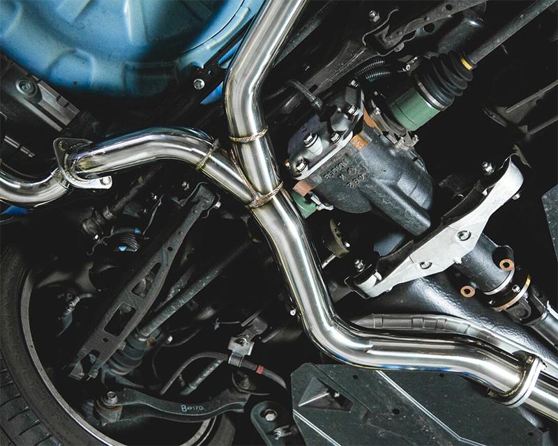 Catback Exhaust System Polished Quad Tips Subaru WRX STI Sedan Agency Power