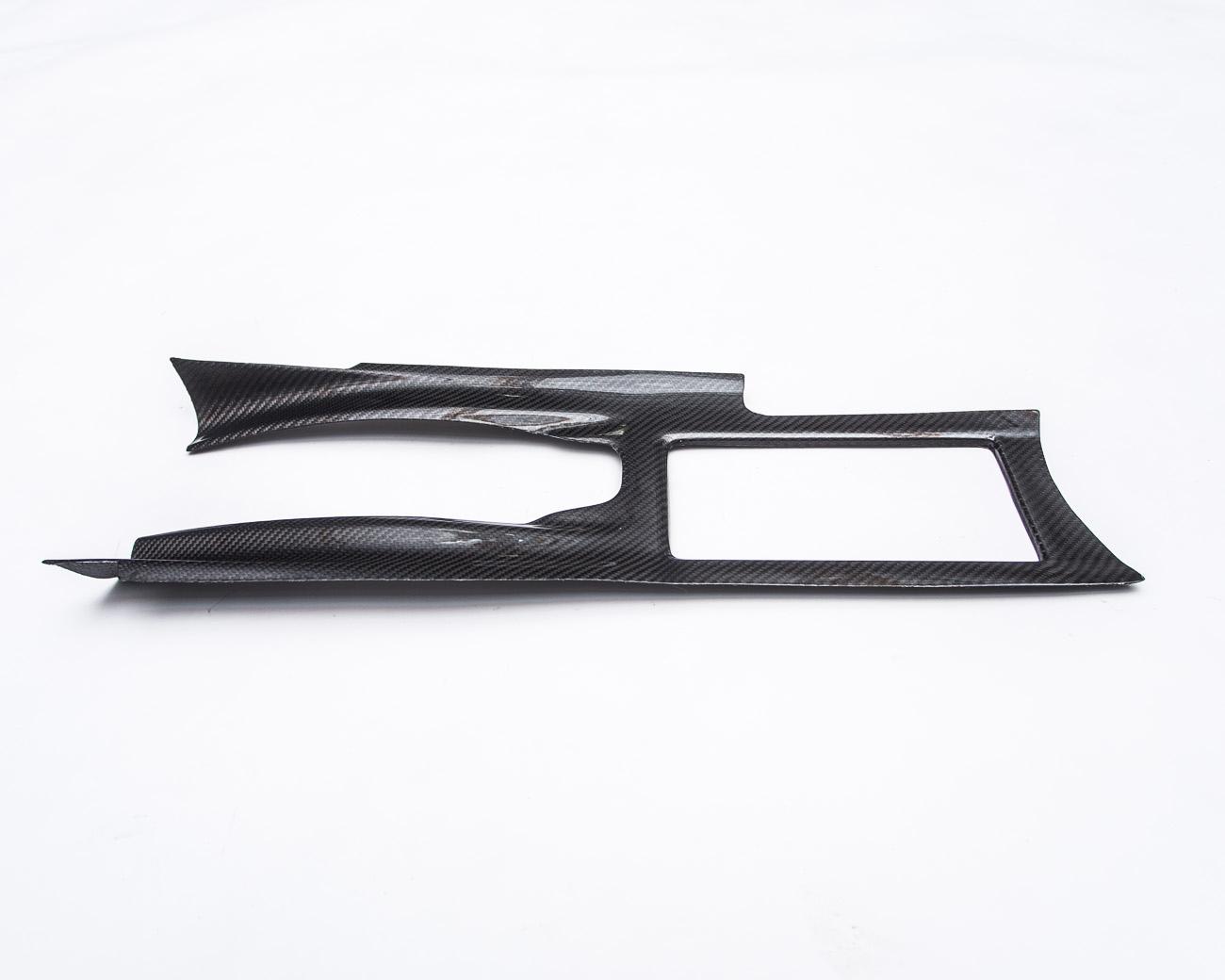 Gloss Carbon Fiber Center Console Cover Nissan R35 GTR (LHD Agency Power