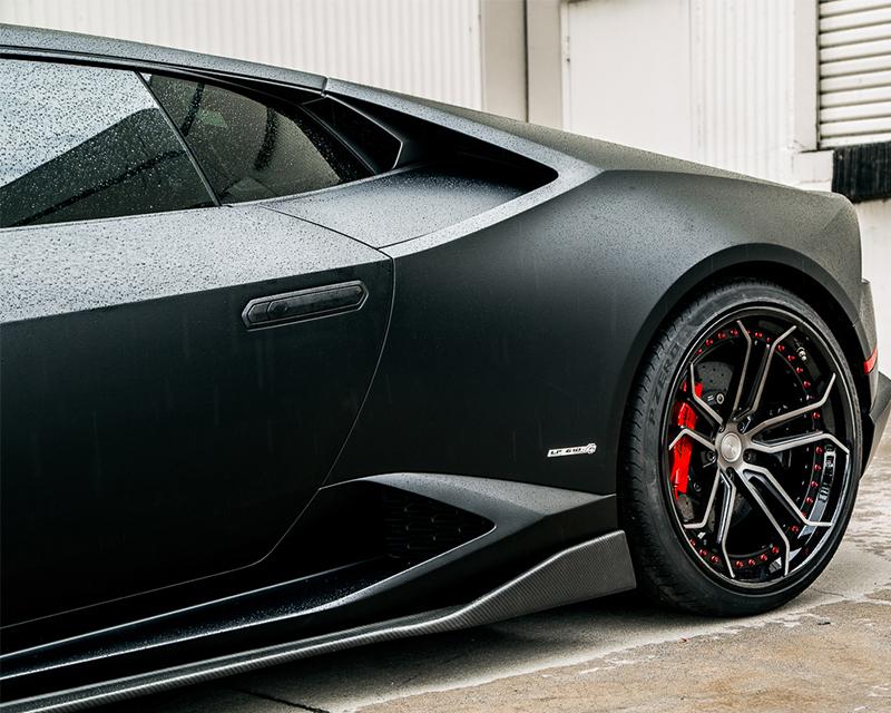 Aeroform Carbon Fiber Side Skirt Extensions Lamborghini Huracan LP-610 15-17 Agency Power