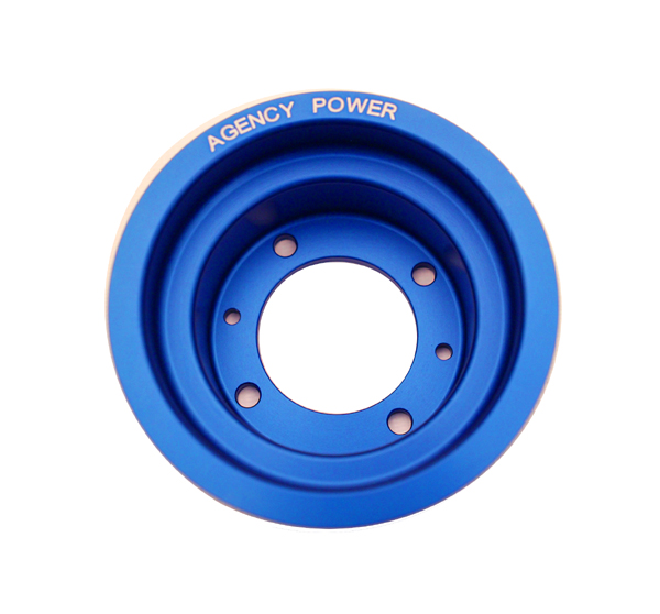 Lightweight Crank Pulley Blue 04-11 Mazda RX-8 Agency Power
