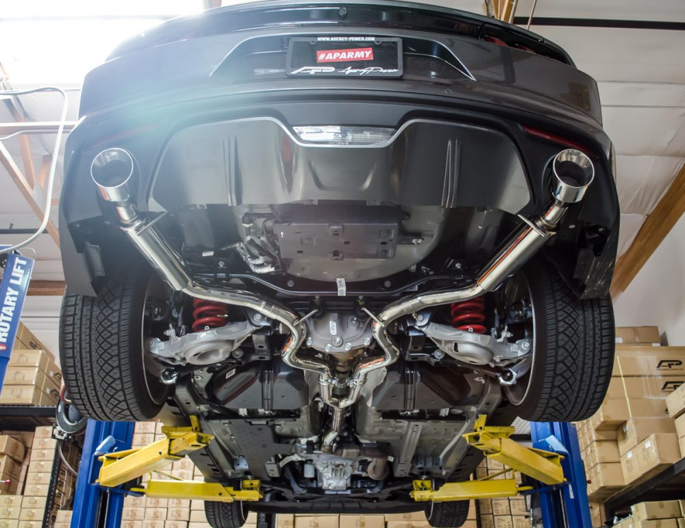 Race Tuned Catback Exhaust 15-16 Ford Mustang Ecoboost 2.3L Agency Power