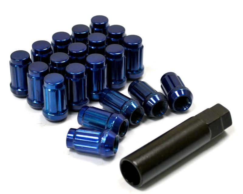 Blue Tuner Lugs 12x1.50 Closed End Lug Nuts Agency Power