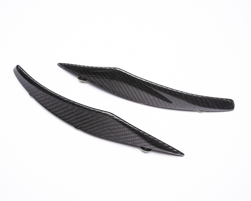 Carbon Fiber Lower Front Bumper Canard Pair SRT Viper Agency Power