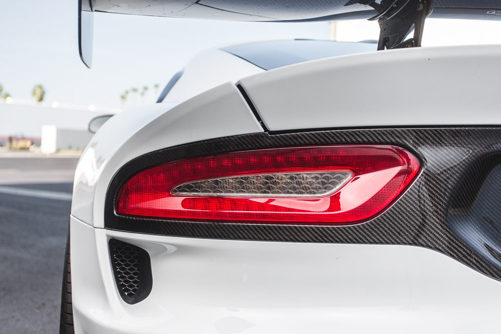 Carbon Fiber Rear Bumper Tail Light Surround Trim 13-Pres SRT Viper Agency Power