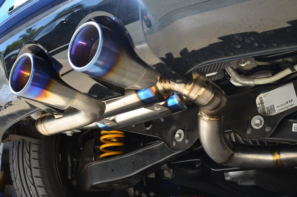 Titanium Catback Exhaust System Volkswagen Golf R MK6 Agency Power
