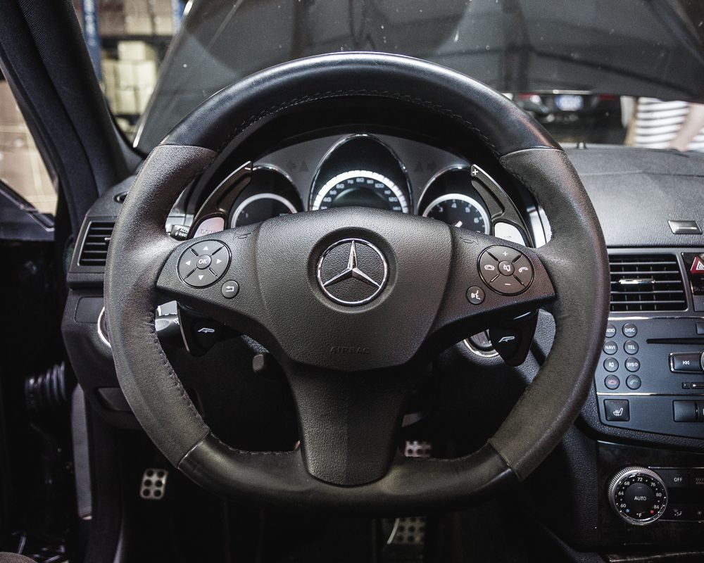 Paddle Shifter Extensions Black Mercedes Benz AMG Agency Power