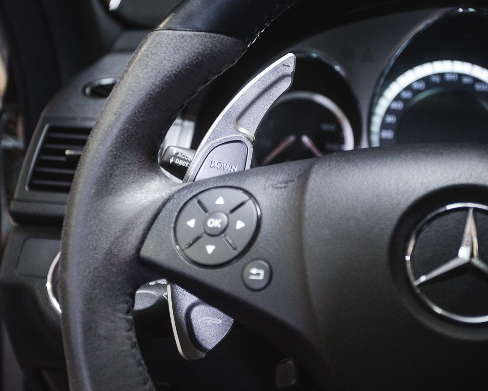 Paddle Shifter Extensions Bright Silver Mercedes Benz AMG Agency Power