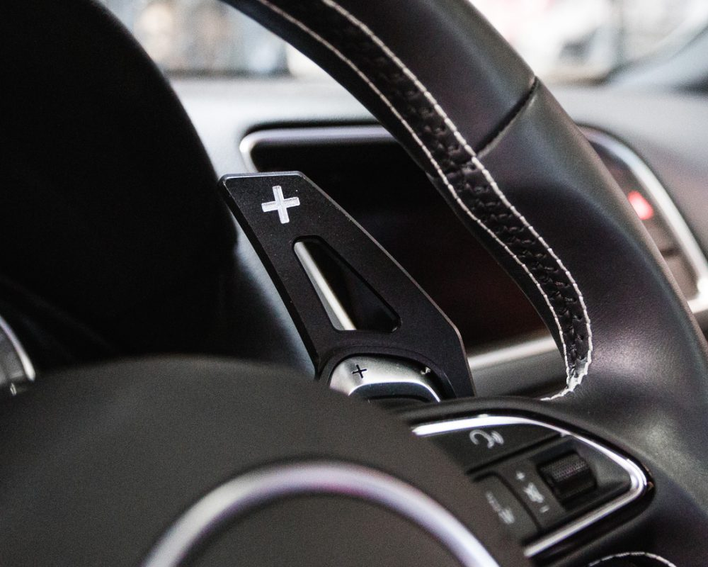 Paddle Shifter Extensions Black Audi S and RS Agency Power