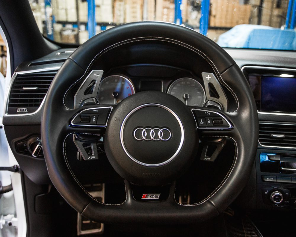 Paddle Shifter Extensions Tungsten Audi S and RS Agency Power