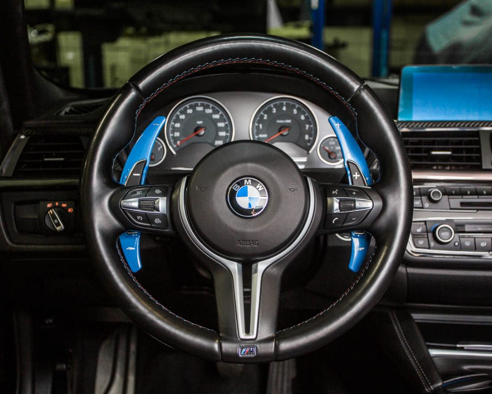 Paddle Shifter Extensions Yas Marina Blue BMW F Series M Models Agency Power