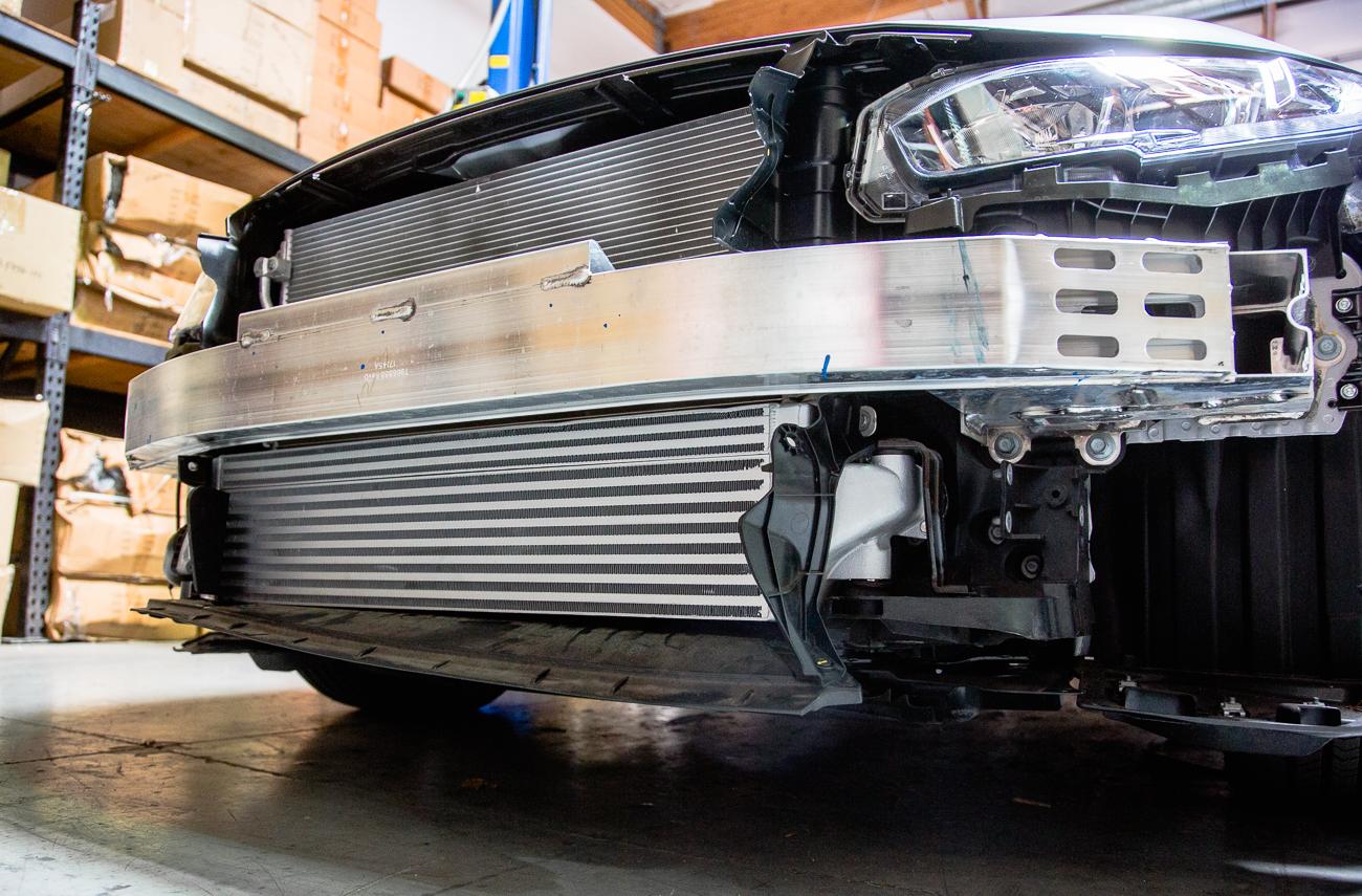 Silver Honda Civic >> Agency Power Intercooler Upgrade Honda Civic   Civic Si 1
